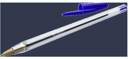 stylo bic bleu cristal